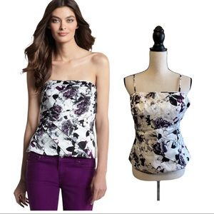 White House Black Market Womens Floral Bustier
